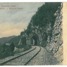 3133 - Caras-Severin, ORAVITA, Railway and Tunnel - old postcard - used - 1904 - Carte Postala Banat pana la 1904, Circulata, Printata