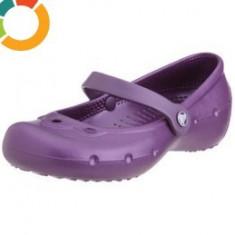 Balerini CROCS Girls Alice purple - marime J2 (35) - Balerini copii, Fete, Mov