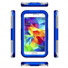 Toc subacvatic impermeabil durabil albastru Samsung Galaxy S5 G900 + folie ecran - Husa Telefon Samsung, Negru, Plastic
