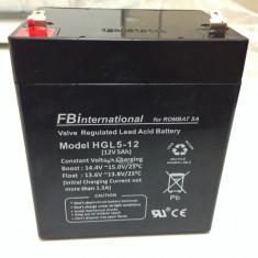 Acumulator 12V - 5Ah stationar VRLA pt UPS sau alarma de casa NOU