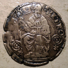 G.282 ITALIA BOLOGNA SF. PETRU GROS SEC XVI ARGINT 2, 0g/23mm - Moneda Medievala, Europa, An: 1600