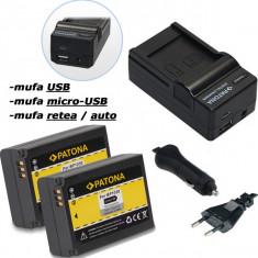 PATONA   Incarcator 4in1 + 2 Acumulatori pt Samsung BP 1030 NX300 NX1000 NX1100 - Incarcator Aparat Foto