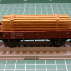 Vagon transport lemne marca Roco scara HO - Macheta Feroviara Roco, H0 - 1:87, Vagoane