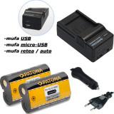 1 PATONA| Incarcator 4in1+ 2 Acumulatori Kodak Z812 Z1012 KLIC-8000 Zx1 RICOH R2