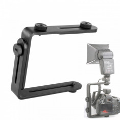Suport universal dual - L pentru Flash, lampa, microfon etc.