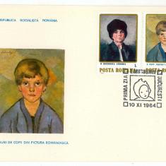 Romania ( 1113 ) - 3 FDC, Figuri de copii - 1984, An: 1965