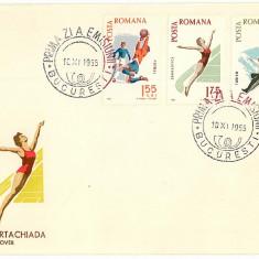 Romania ( 616 ) - 2 FDC, Spartachiada - 1965