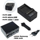 PATONA | Incarcator 4in+ Acumulator PREMIUM NP F970 NPF970 F960 VX2100 HDR-FX1