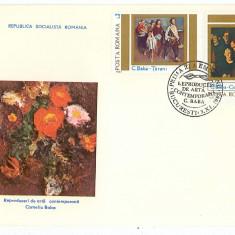 Romania ( 1085 ) - 2 FDC, Reproduceri de arta - Corneliu Baba - 1983, An: 1965