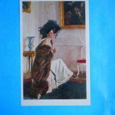 HOPCT 20483 RUSIA PICTURA -VALENTIN SEROV /PORTRET OLGA SEROV [ NECIRCULATA ], Printata