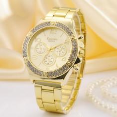 Ceas Dama KANIMA LUX Elegant Crystal Model 2015 AURIU, ARGINTIU, ROZ| GARANTIE, Quartz, Otel, Inox, Analog
