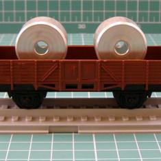 Vagon transport piese scara HO - Macheta Feroviara, H0 - 1:87, Vagoane