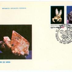 Romania ( 1143 ) - 3 FDC, Flori de mina - 1985, An: 1965