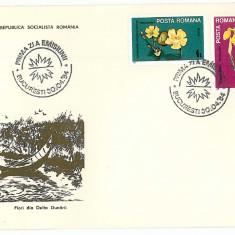 Romania ( 1099 ) - 3 FDC, Flori din Delta Dunarii - 1984, An: 1965
