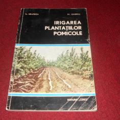 N GRUMEZEA - IRIGAREA PLANTATIILOR POMICOLE - Carte gradinarit