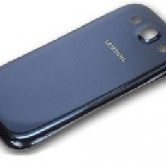 Pachet Capac spate Samsung Galaxy S3 mini i8190 original albastru + folie sticla