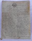 1782 MANUSCRIS PERGAMENT DOCUMENT PIELE FRANTA 8 PAGINI LIMBA FRANCEZA