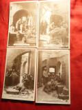 Set 8 Ilustrate vechi , cca.1900 - Viata lui Isus -Franta ,semnate AN