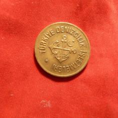 Jeton vechi Turcia , bronz , d= 2,2 cm