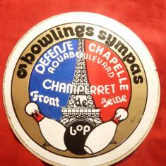 Vigneta adeziva - Campionatul de Popice - Bowling