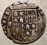 G.281 SPANIA CASTILIA ARAGON FERNANDO II ISABEL I 1474 1504 1 REAL ARGINT 2,88g, Europa