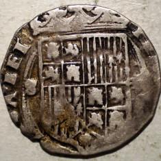 G.281 SPANIA CASTILIA ARAGON FERNANDO II ISABEL I 1474 1504 1 REAL ARGINT 2, 88g - Moneda Medievala, Europa, An: 1500