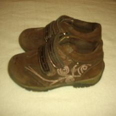 Adidasi din piele pt. copii marimea 24 - Adidasi copii, Culoare: Maro, Piele naturala