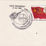 Bnk fil Plic ocazional Intercosmos Bucuresti 1988