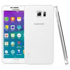 Samsung S6 Edge Plus - Pachet Husa Silicon Margine Silver si Folie Silicon - Husa Telefon Samsung, Samsung Galaxy S6 Edge Plus, Transparent