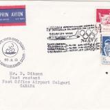 bnk fil Plic ocazional JO iarna Calgary 1988 zbor Bucuresti Calgary