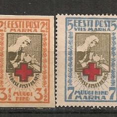 Estonia.1921 Crucea Rosie CC.100, Nestampilat