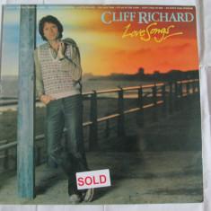 VINIL L.P. EMI ORIGINAL CLIFF RICHARD ALBUMUL LOVE SONGS 1981 - Muzica Pop emi records