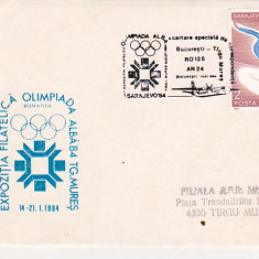 Bnk fil Plic ocazional Expofil Olimpiada alba 84 Targu Mures aerofilatelie