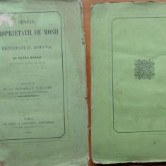 Opran , Chestia proprietatii de mosii in Principatul Romania , Paris , 1858
