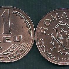 ROMANIA 1 LEU 1992 UNC [1] livrare in cartonas, necirculata - Moneda Romania, Tombac