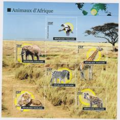TOGO 2011 ANIMALE DIN AFRICA - Timbre straine, Nestampilat