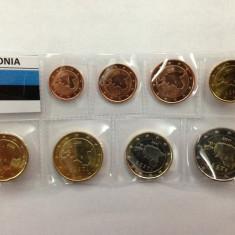 SET 8 monede euro ESTONIA 2011 (1cent - 2euro ) - UNC, Europa, Cupru-Nichel