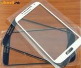 Pachet Geam + folie sticla Samsung Galaxy S4 alb / negru/ bleu touchscreen ecran