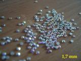 Set 100 cristale cu reflexii multicolore pt decorare unghii tip Swarovski 1,7mm