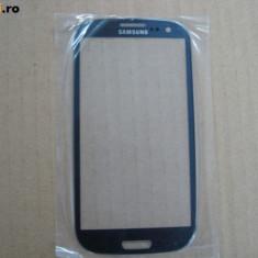 Pachet Geam + folie sticla Samsung Galaxy S3 i9300 albastru touchscreen ecran - Touchscreen telefon mobil