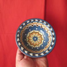 Vas vechi ceramica, farfurie lut, pictata manual, arta populara ! - Arta Ceramica
