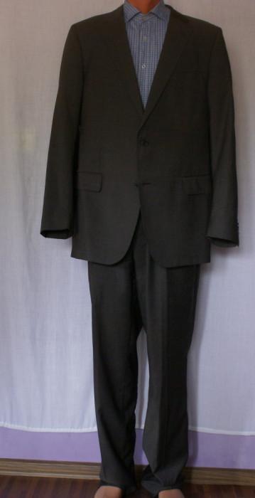 Costum barbati JOOP maro marimea 52 din lana 100% foto mare