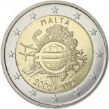 MALTA 2 euro comemorativa 2012 TYE, UNC, Europa, Cupru-Nichel