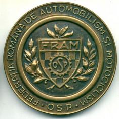 MEDALIE MARELE PREMIU AL RPR BUCURESTI 6 IUNIE 1948 AUTOMOBILISM SI MOTOCICLISM