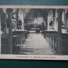 Vedere Veche - Resita - biserica reformata - Carte Postala Banat dupa 1918, Circulata, Printata