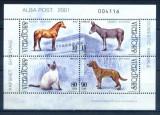 ALBANIA 2001 FAUNA ANIMALE DOMESTICE - CAI,CAINI,PISICI