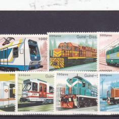 Locomotive electrice, Guineea. - Timbre straine, Nestampilat