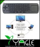 + Measy RC 12 telecomanda si tastatura wireless +, Mini tastatura, USB, Fara fir
