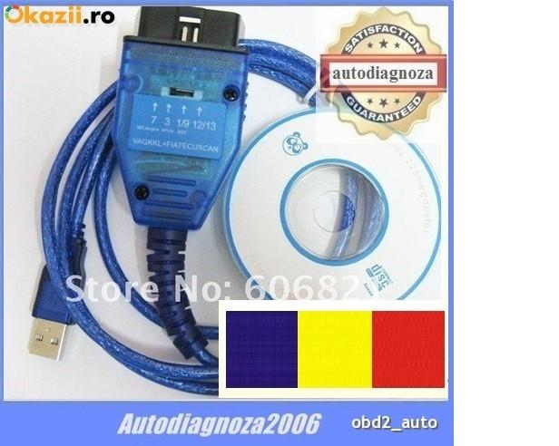 Interfata diagnoza auto K-line , tester Fiat - ECU SCAN lb. RO Linea Albea Punto foto mare
