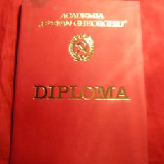 Diploma si Note absolvire Academia Stefan Gheorghiu 1976 - Diploma/Certificat